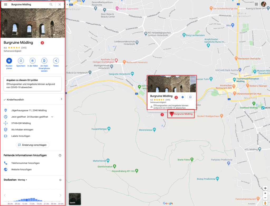 Highlight in Google Maps