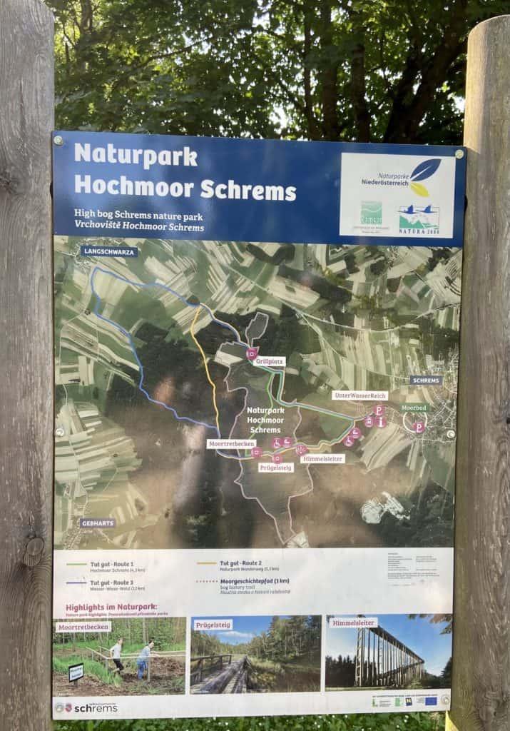 Übersichtsplan Hochmoor Schrems